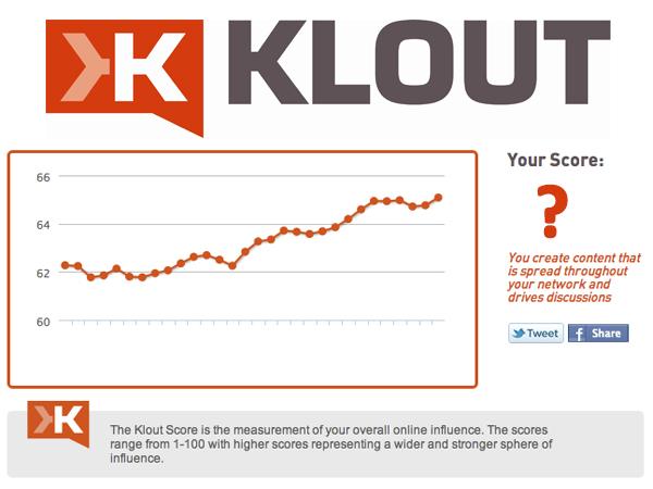 La tua reputazione sul web con Klout