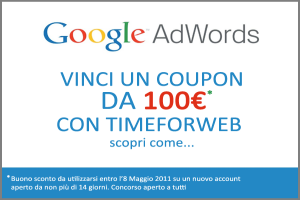 Concorso Vinci coupon Adwords da 100€